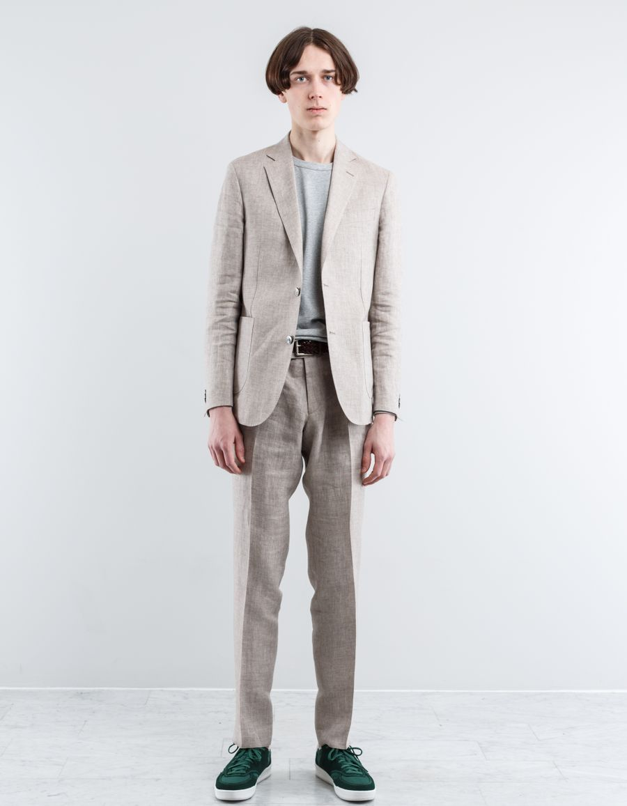 Nitty Gritty by Oscar Jacobson Einar Linen Suit Jacket