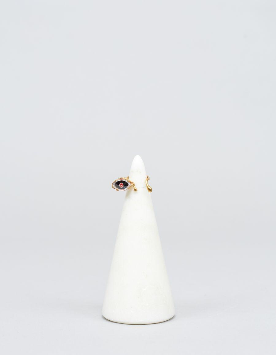 Yukie Deuxpoints Crying Eye Ring Double Tear
