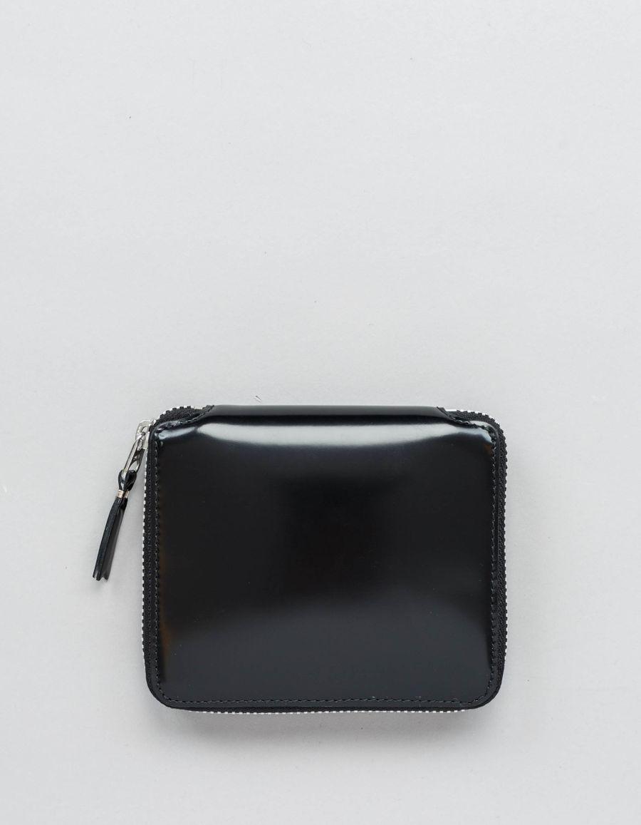 Comme des Garçons Wallet Full Zip Wallet -Mirror Inside