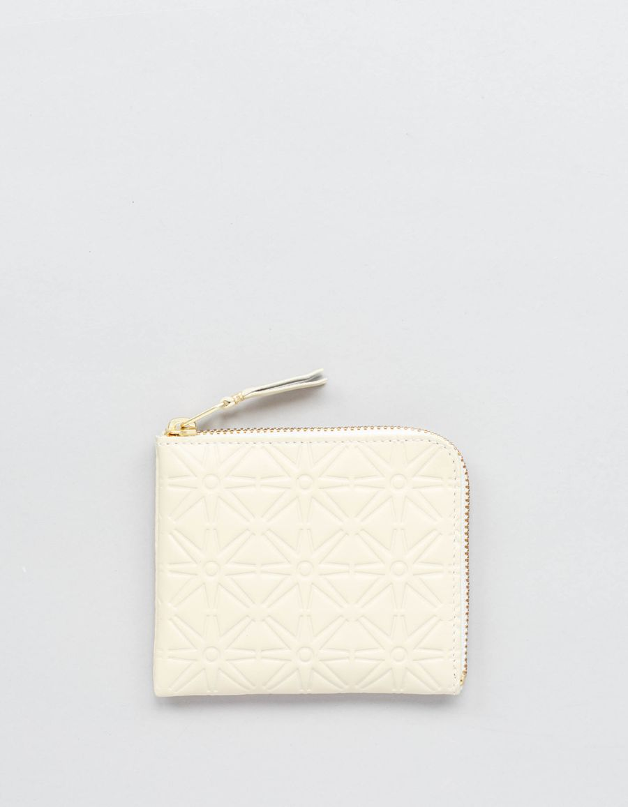 Comme des Garçons Wallet Half Zip Wallet - Stars