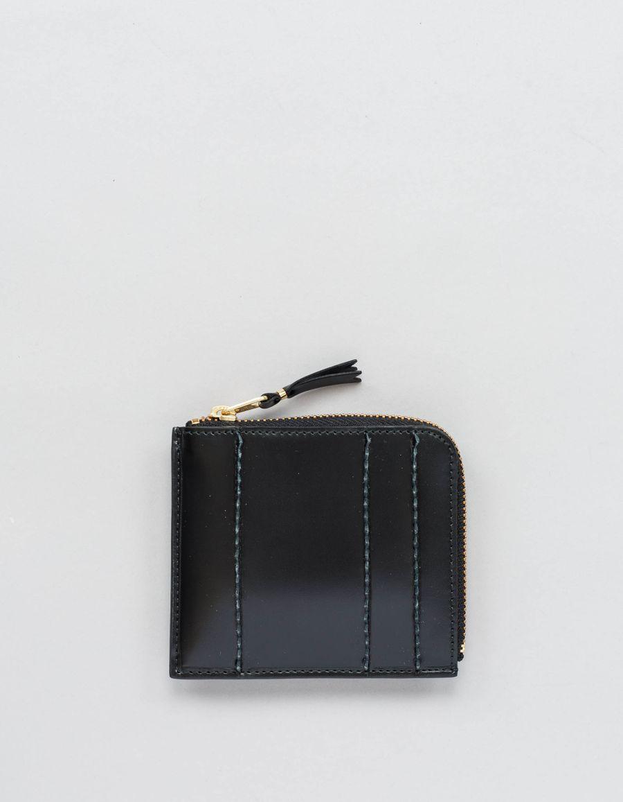 Comme des Garçons Wallet Half Zip Wallet - Raised Spike