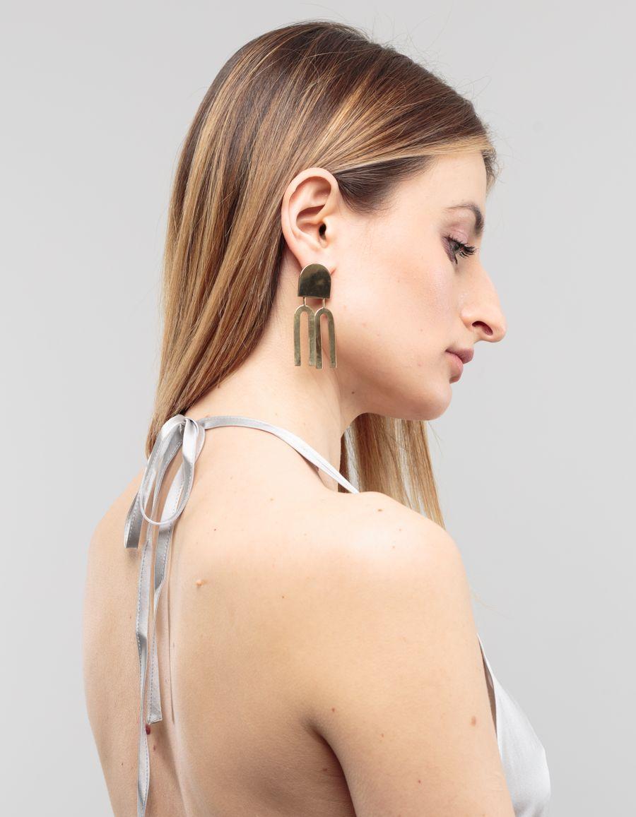 Quarry Jewelry Lautner Earrings Brass