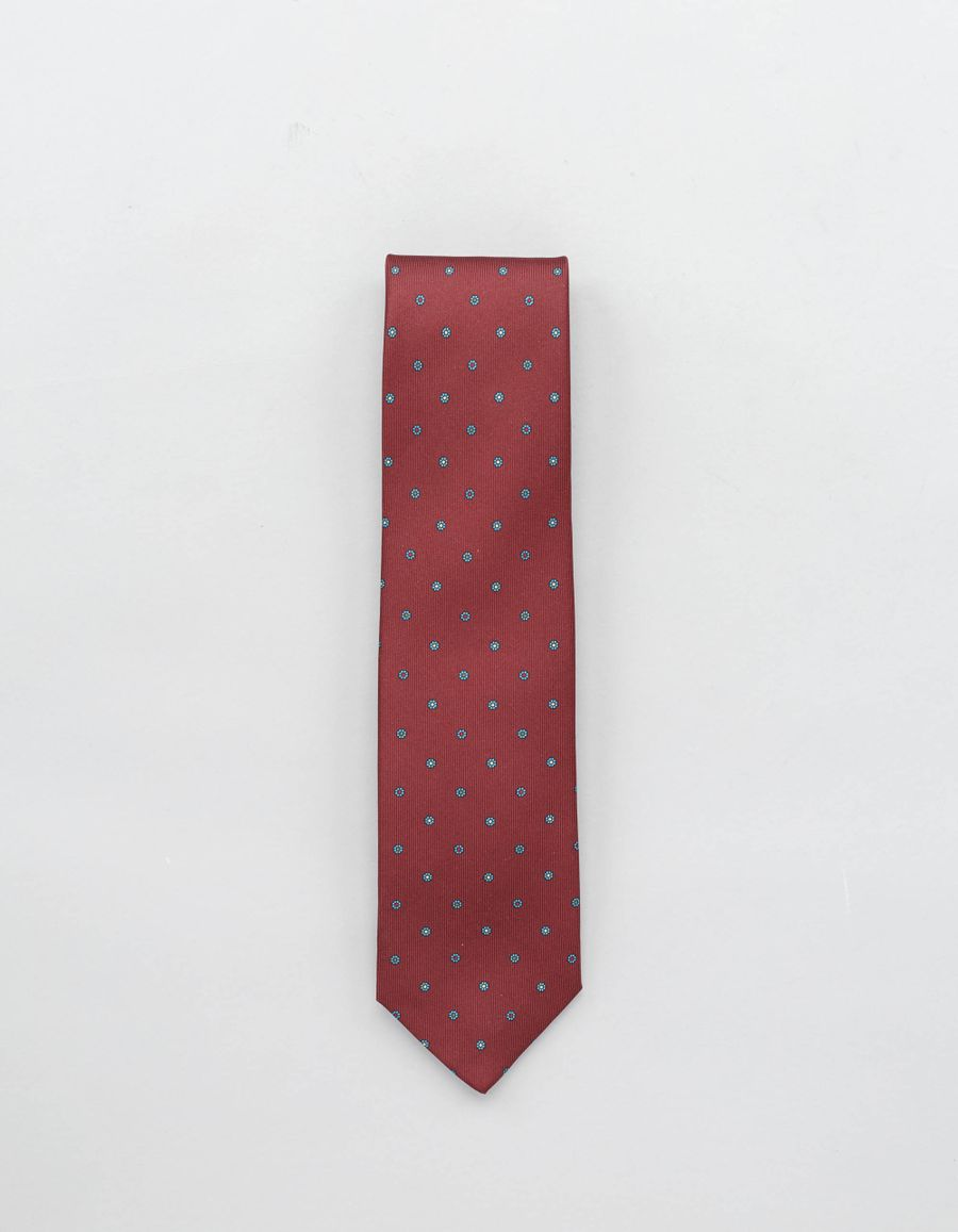 Drake's Printed Self-Tip Silk Tie