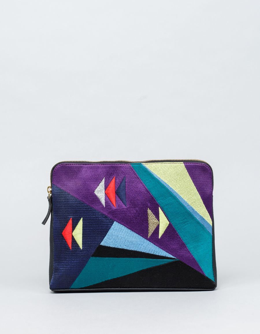 Lizzie Fortunato NGxLF Geometric Safari Clutch