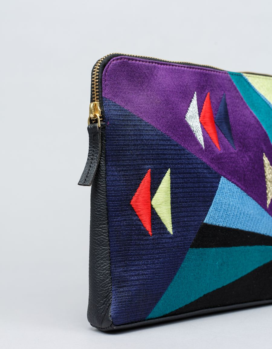 Lizzie Fortunato - NGxLF Geometric Safari Clutch