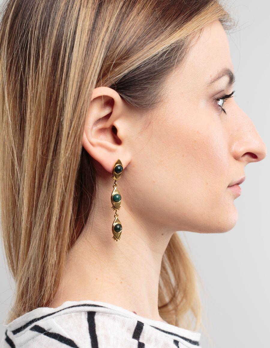 Lizzie Fortunato Bloodstone Eye Earring
