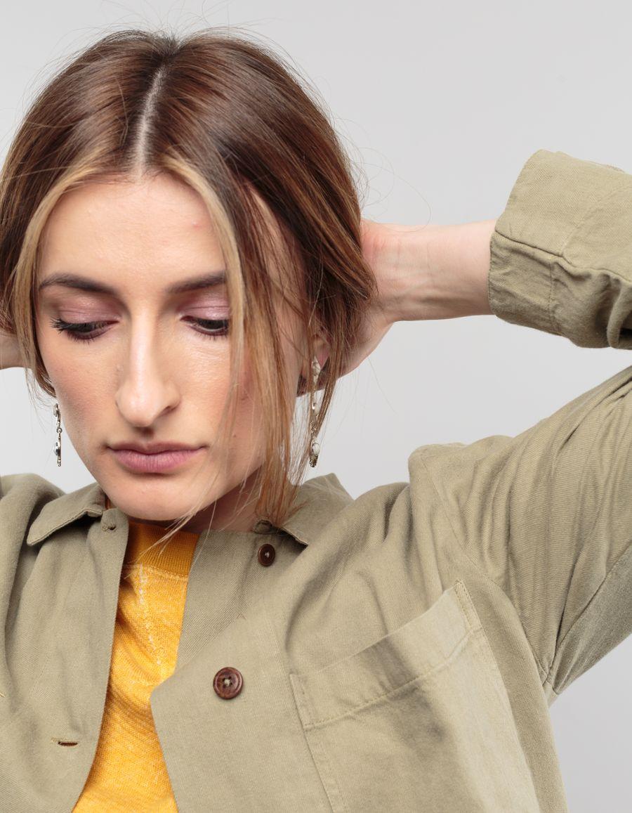 Lizzie Fortunato Howlite Eye Earring