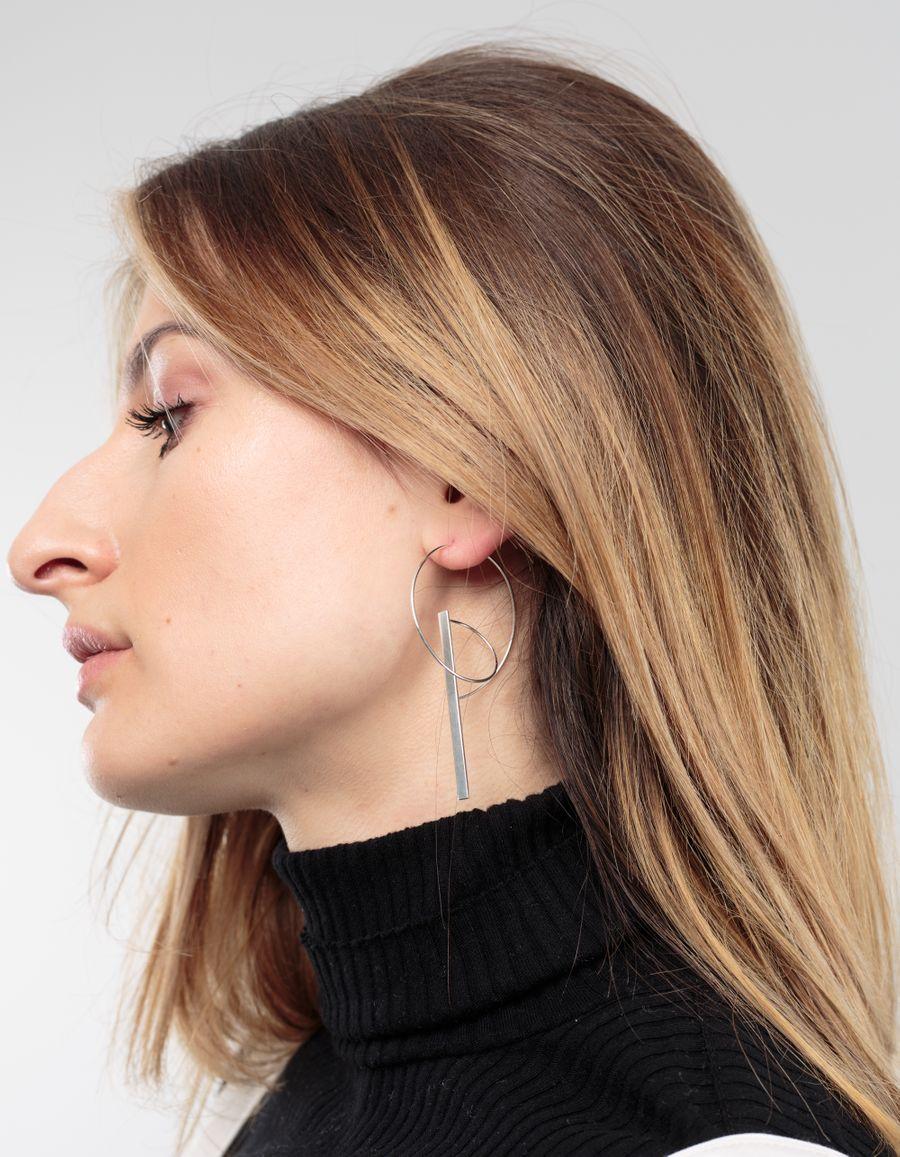 Sofia Eriksson Hoop & Bar Single Earring