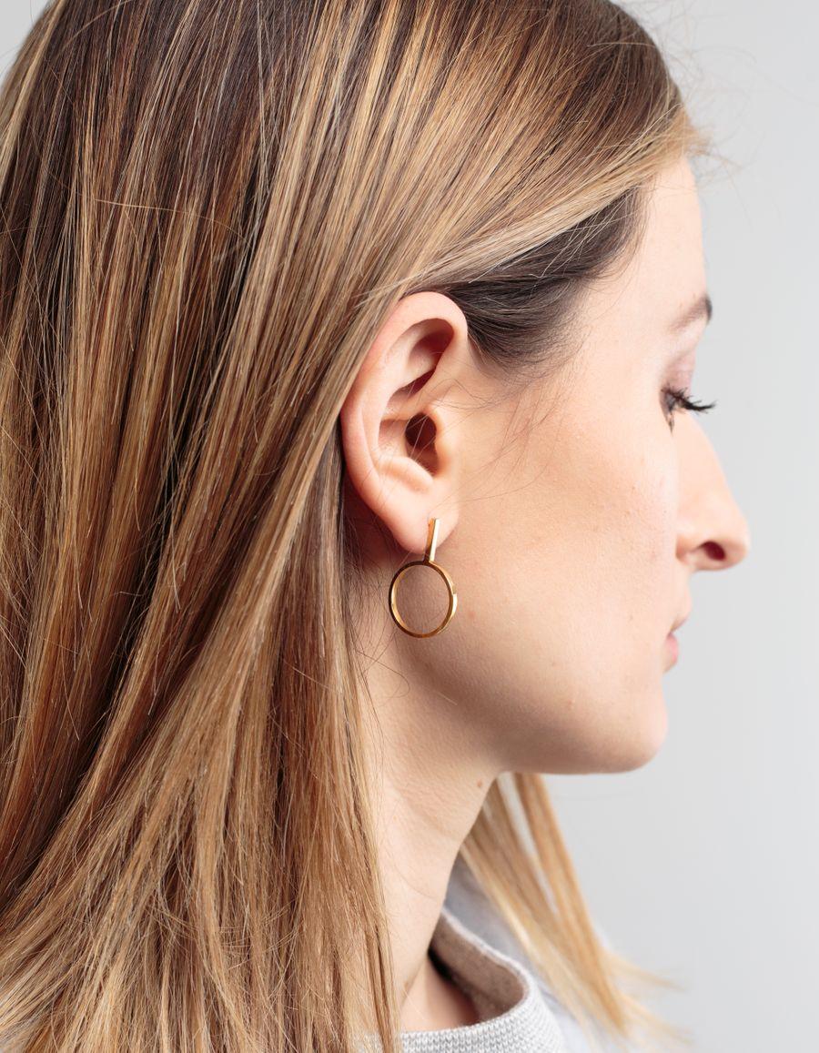 Sofia Eriksson Drop Circle Single Earring
