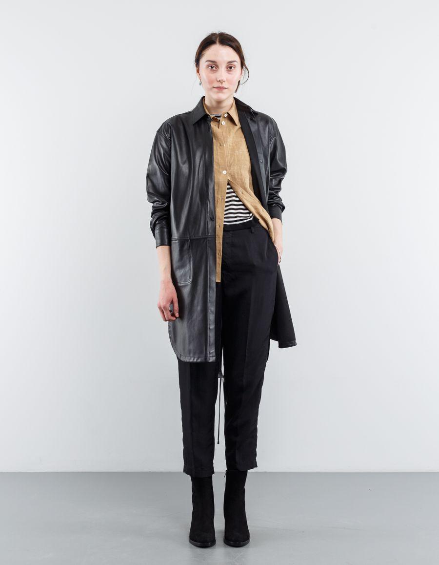 Helmut Lang Leather Shirt Dress