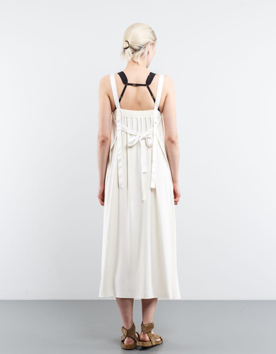 Helmut Lang Satin Apron Tie Dress