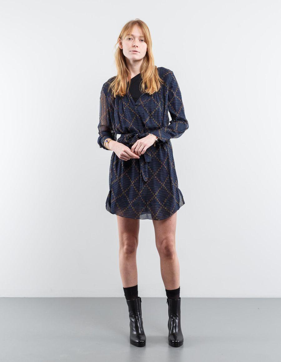 Isabel Marant Étoile Bertha Patterned Silk Dress