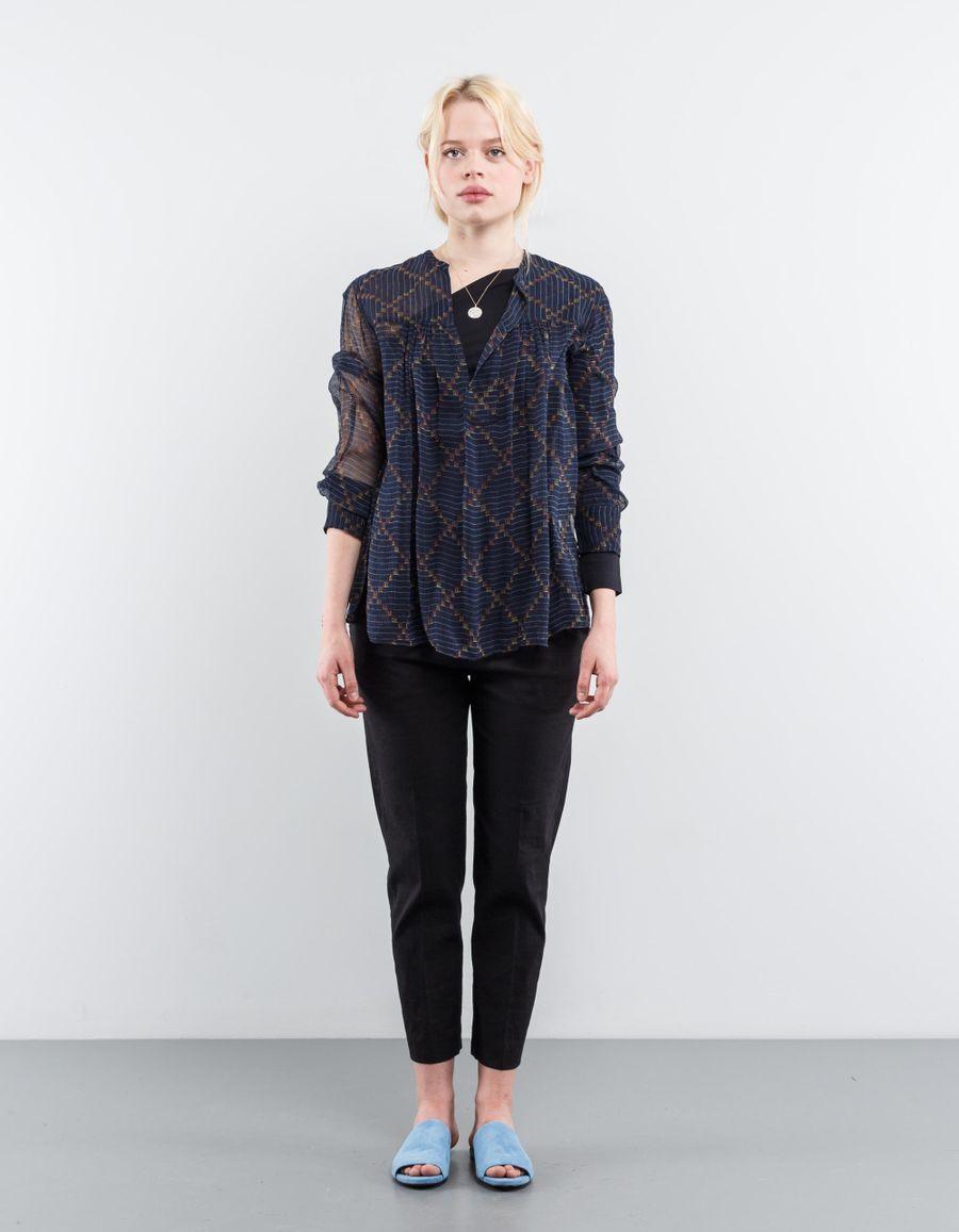 Isabel Marant Étoile Bowtie Patterned Silk Top
