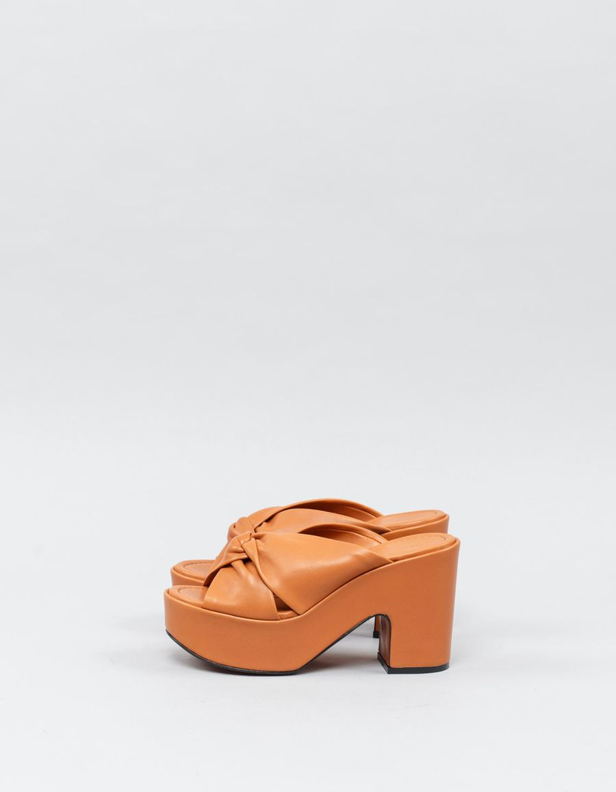 Robert Clergerie Esther Knotted Platform Mules