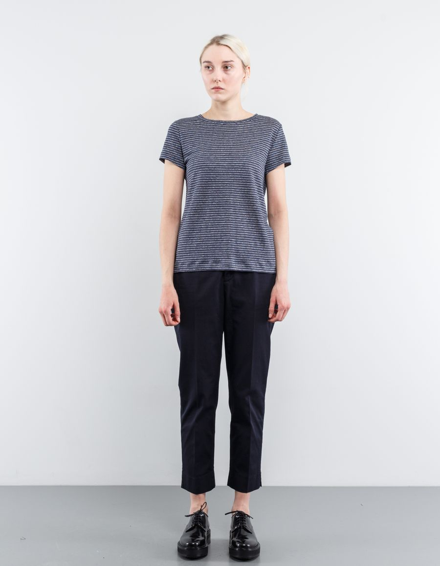 Aspesi Cropped Trouser w. Slit Ankle