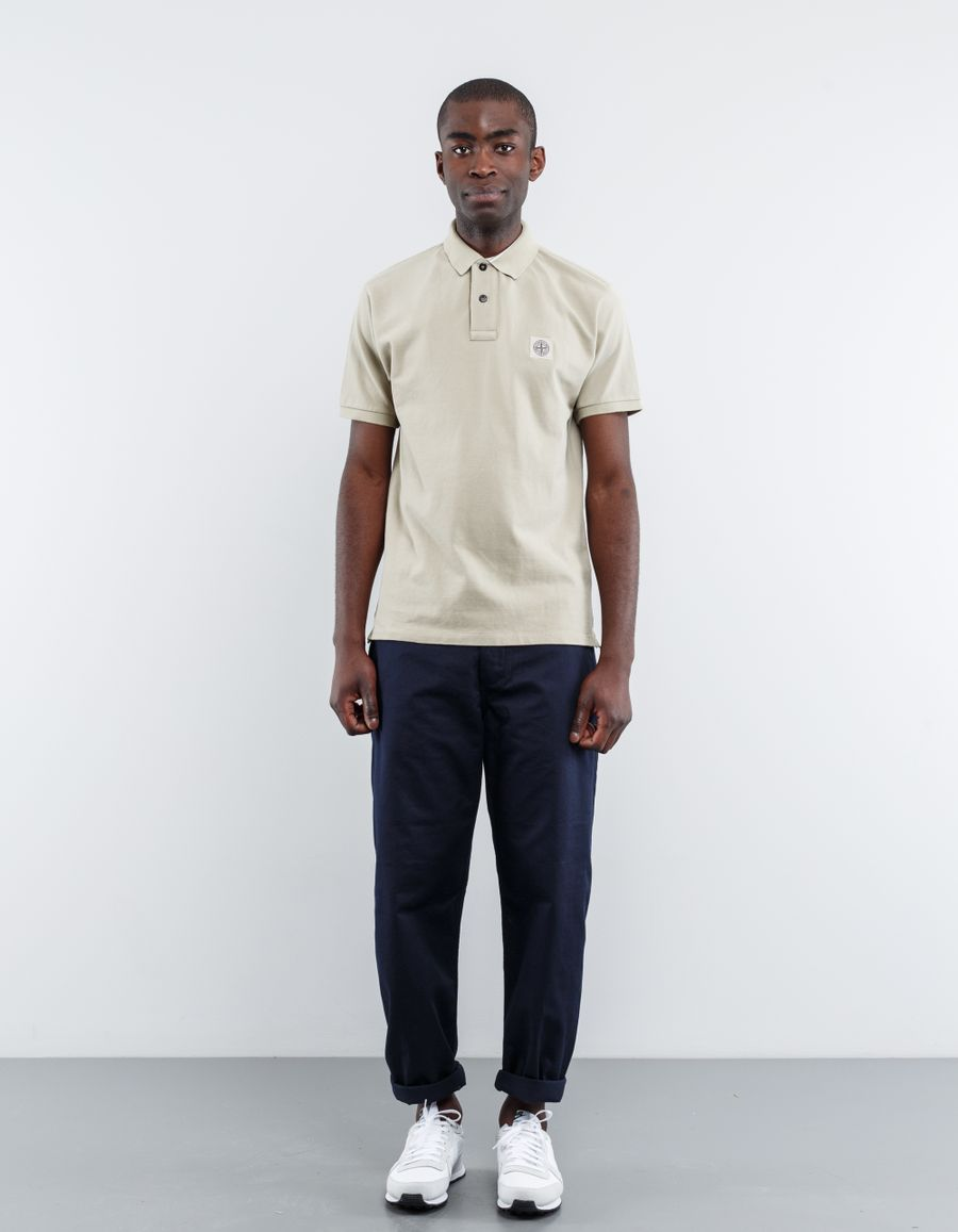 Stone Island 661522C15 - S/S Regular Pique Polo Shirt Beige