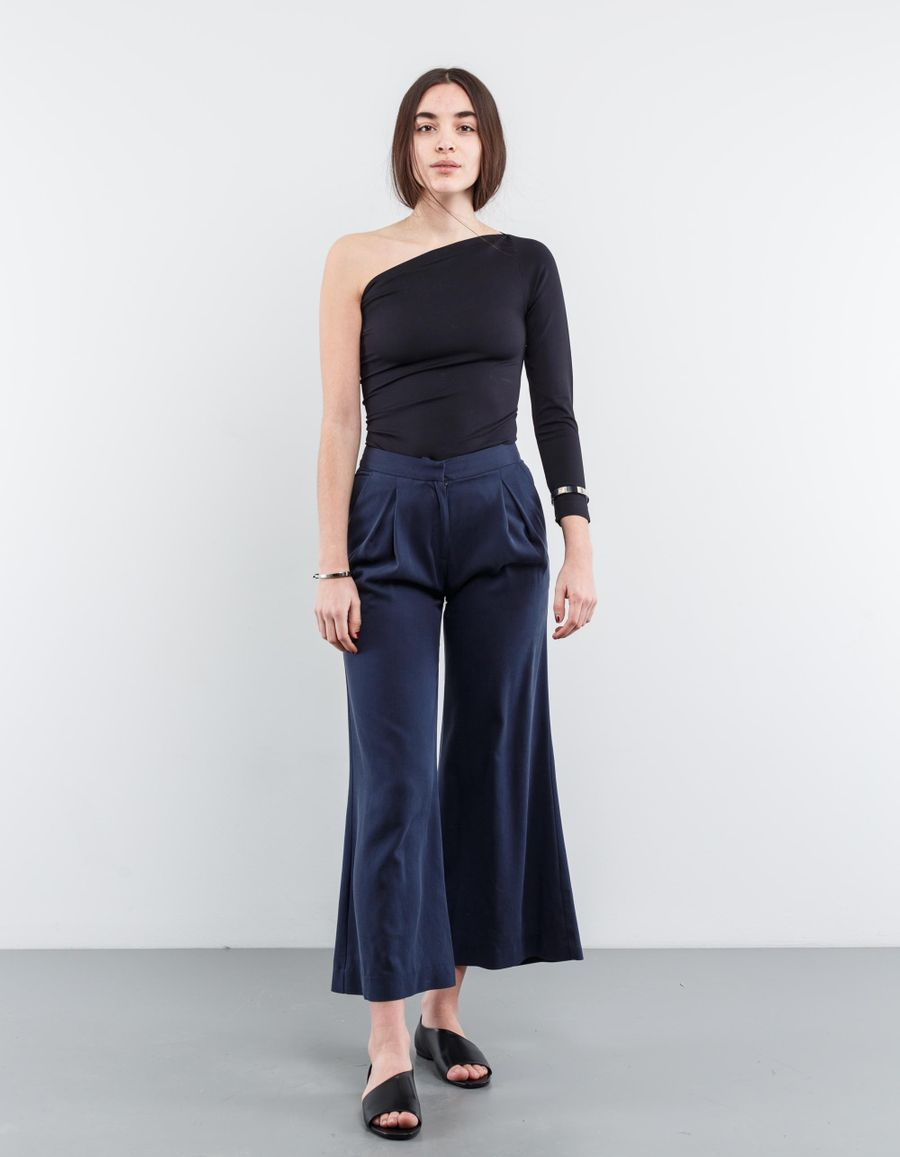 Dušan Flared Culotte Silk Pants