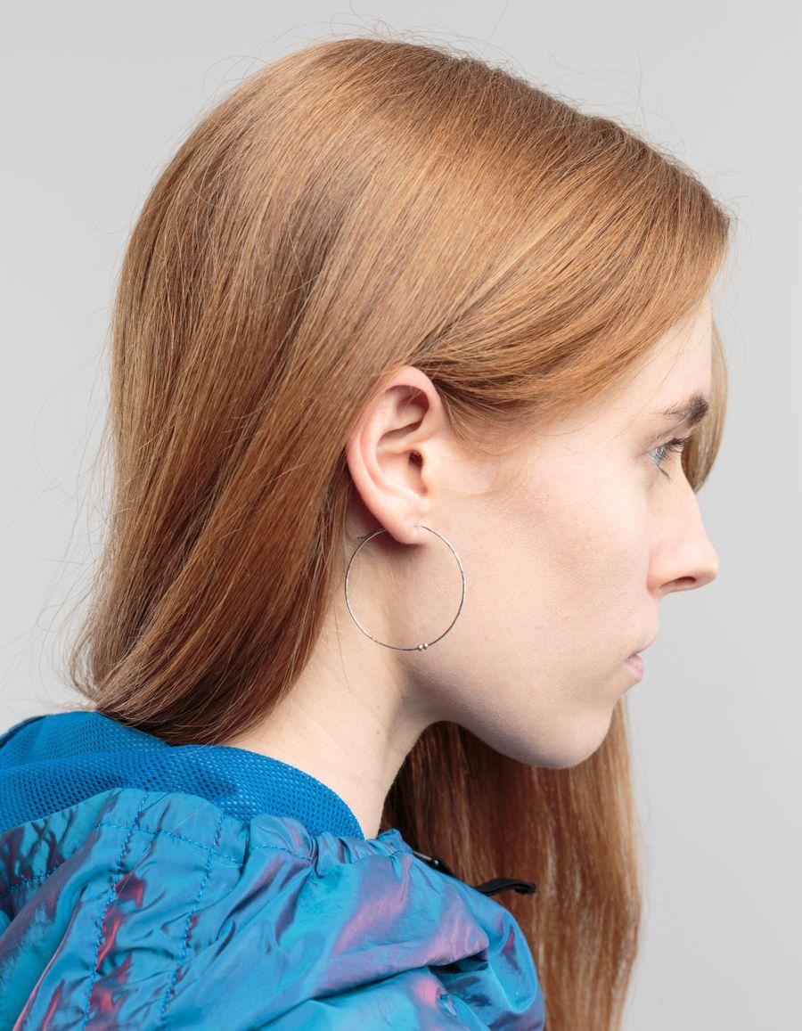 Laura Lee Large Hoop Earring Silver