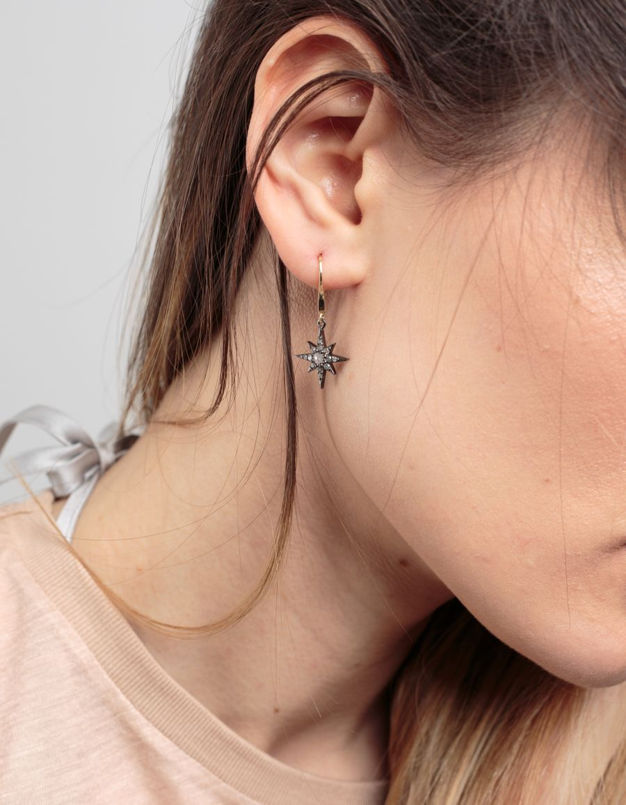 Laura Lee Diamond Set Star Drop Earring