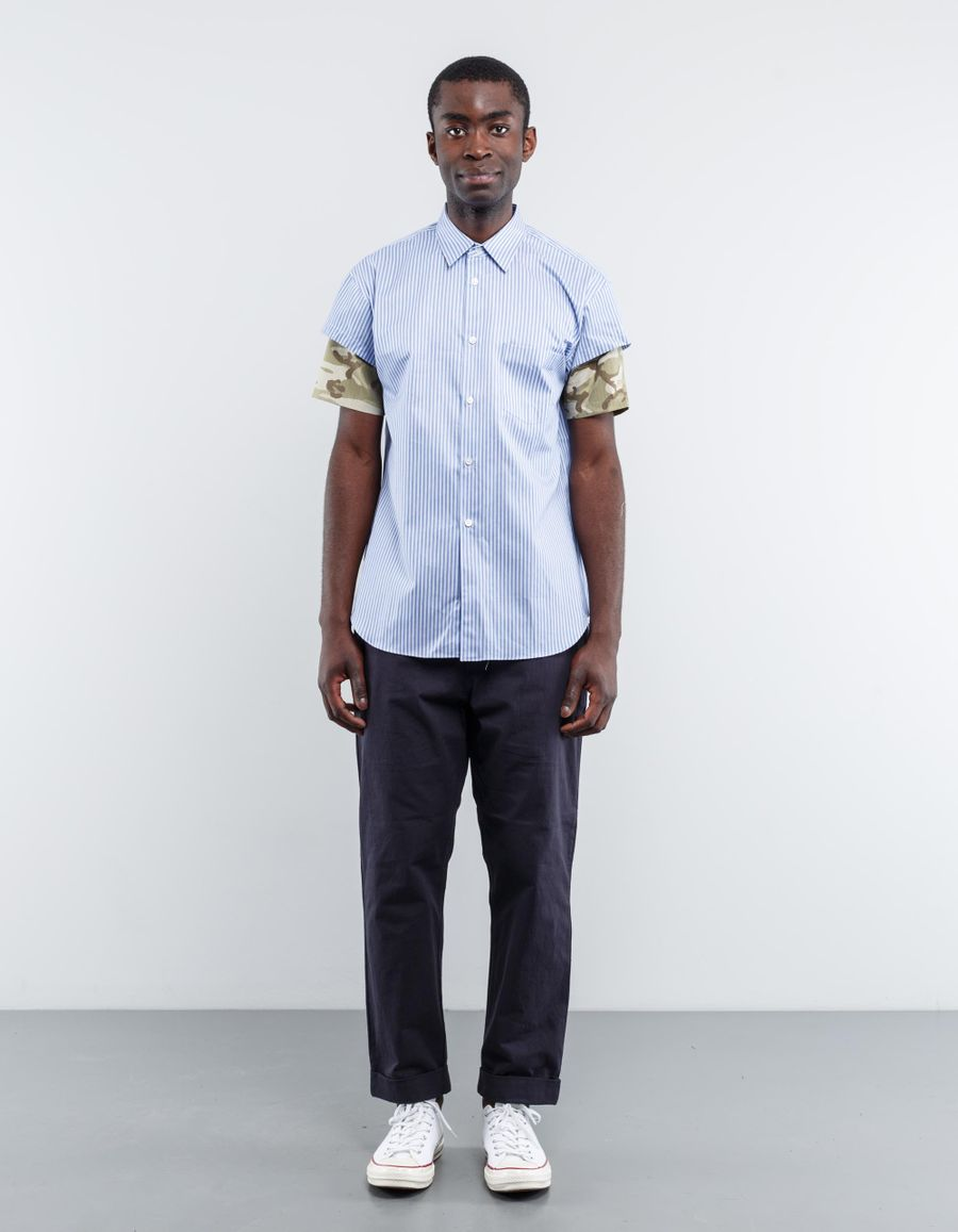 Comme des Garçons SHIRT Stripe/Camo S/S Shirt