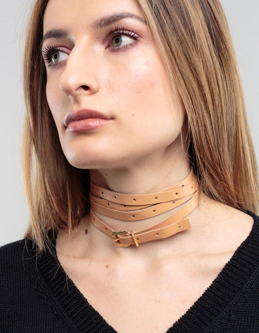 Cornelia Webb Wrap Around Leather Choker