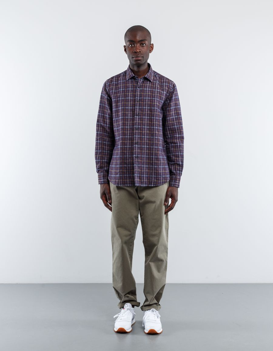 Nitty Gritty Washed Check Linen Shirt
