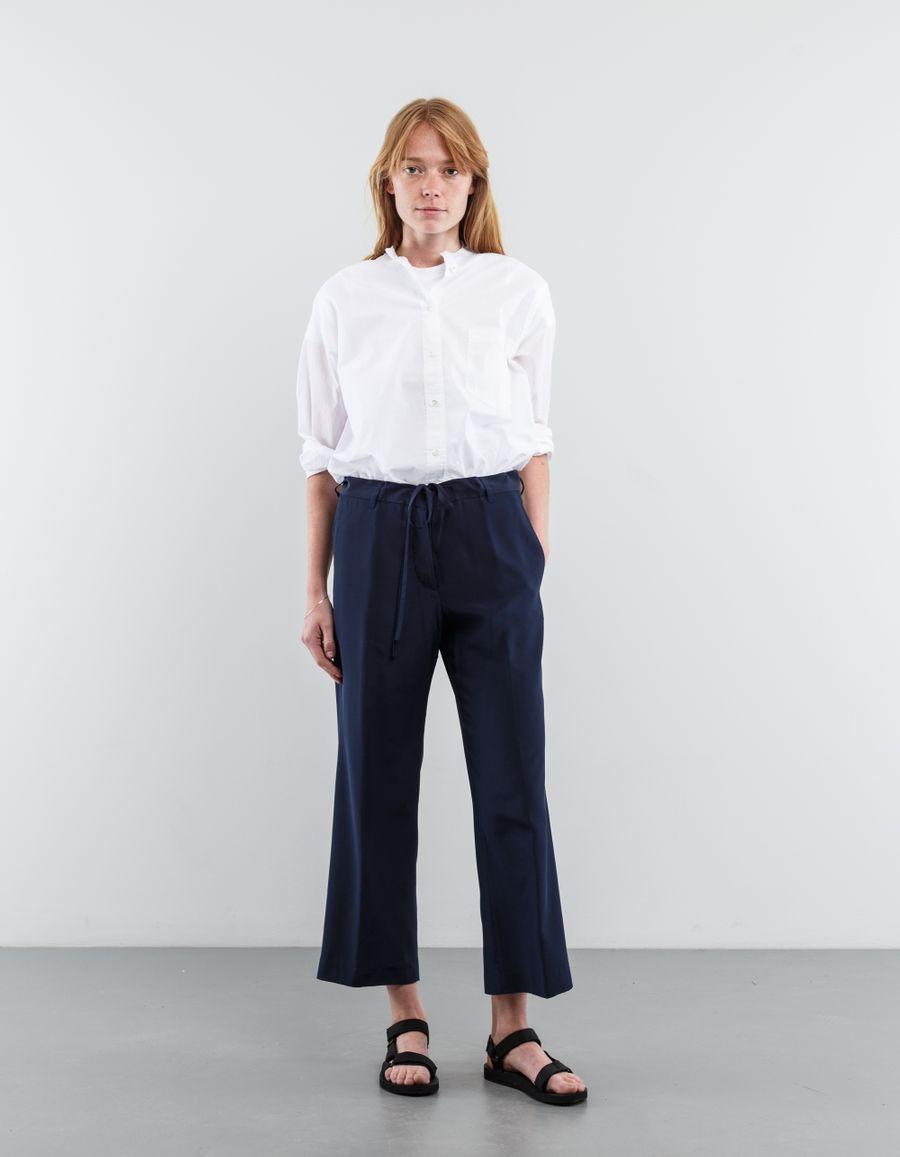 Aspesi Wide Silk Drawstring Trouser
