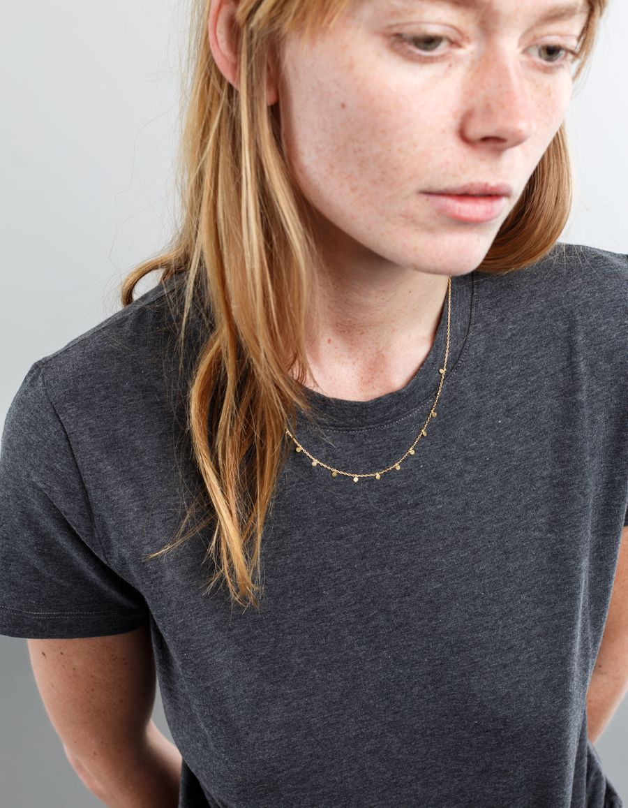 Sia Taylor Little Dots Necklace 18k Gold