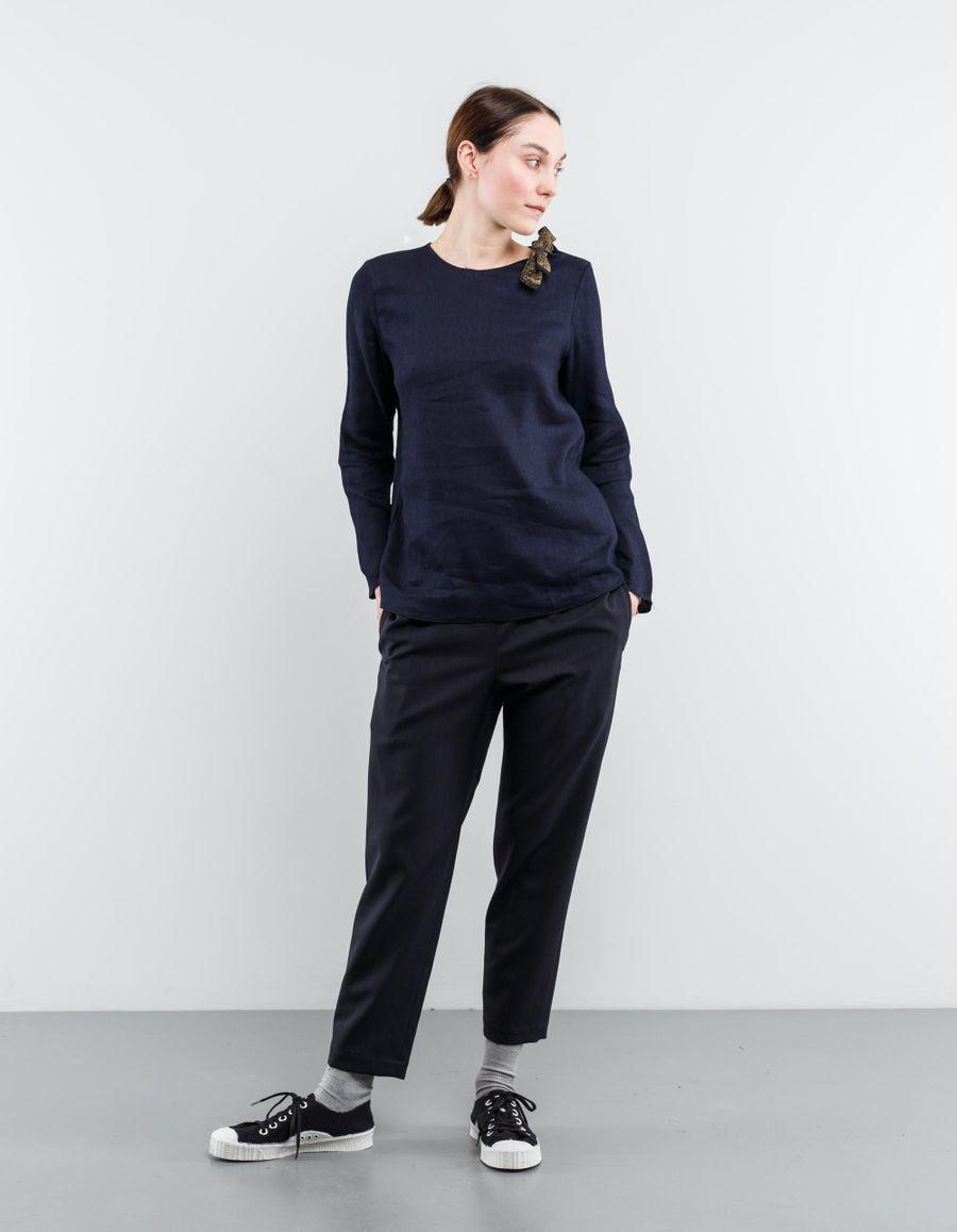 Sara Lanzi Tie Shoulder Blouse