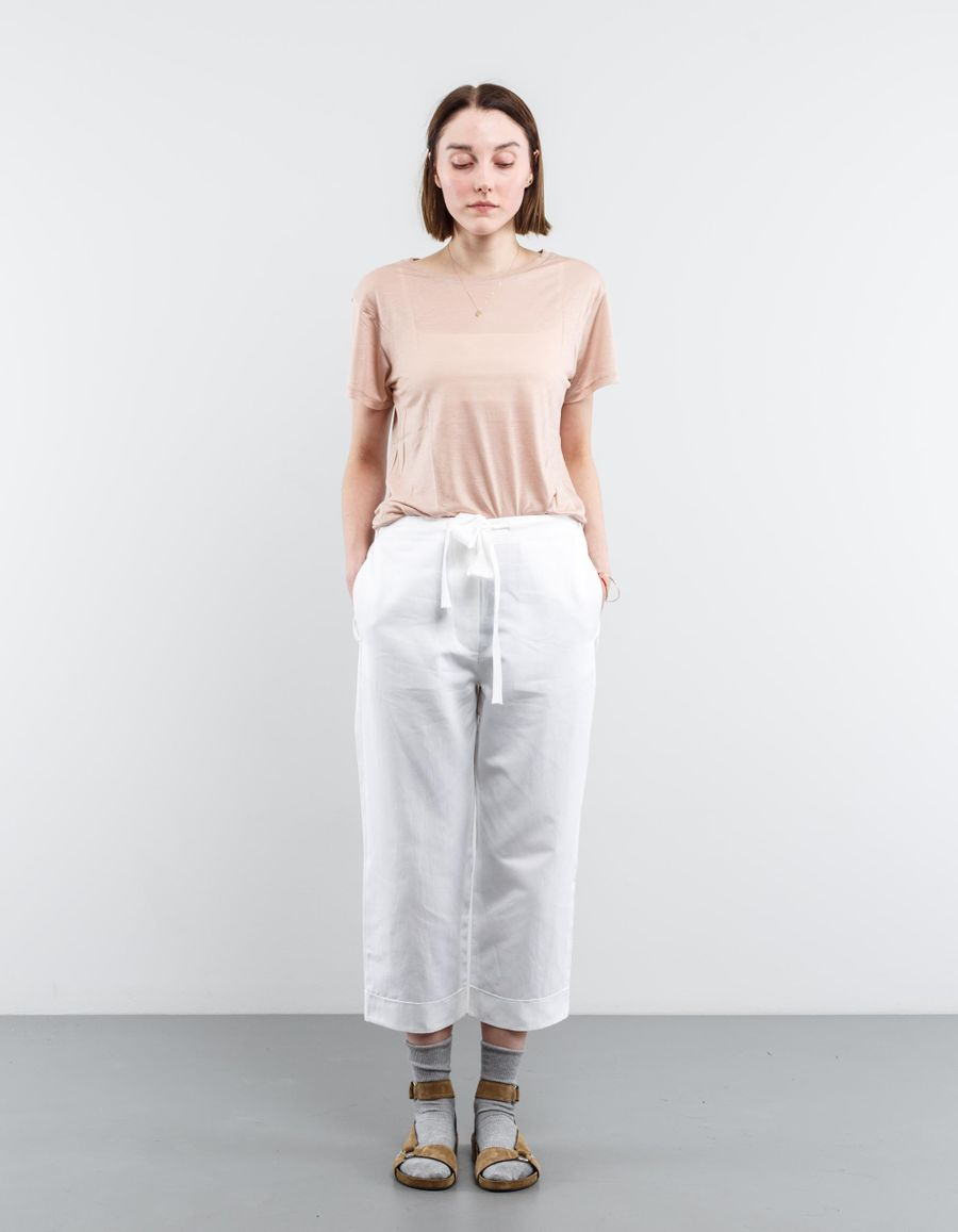 Sara Lanzi Heavy Satin Cropped Pant