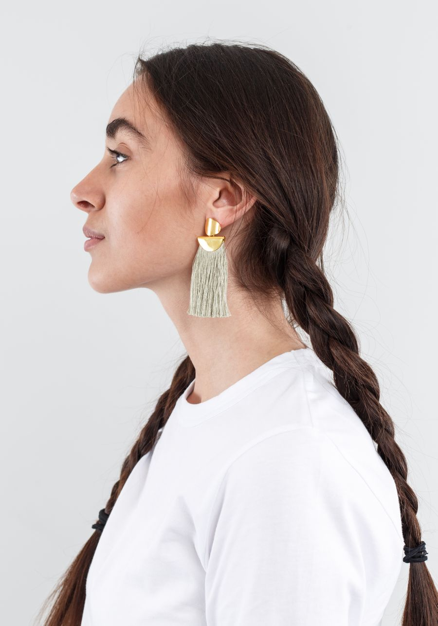 Lizzie Fortunato Crater Fringe Earrings