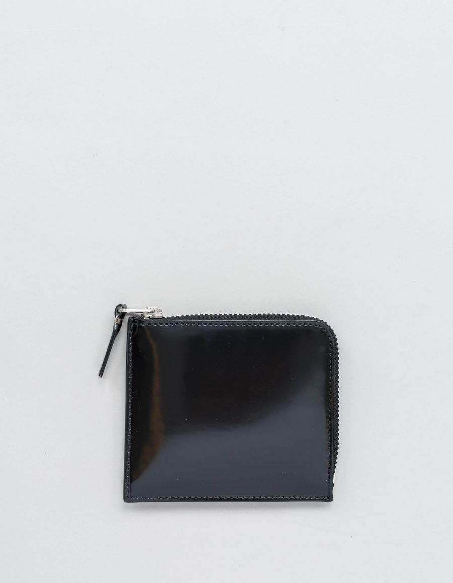 Comme des Garçons Wallet Half Zip Wallet -Mirror Inside