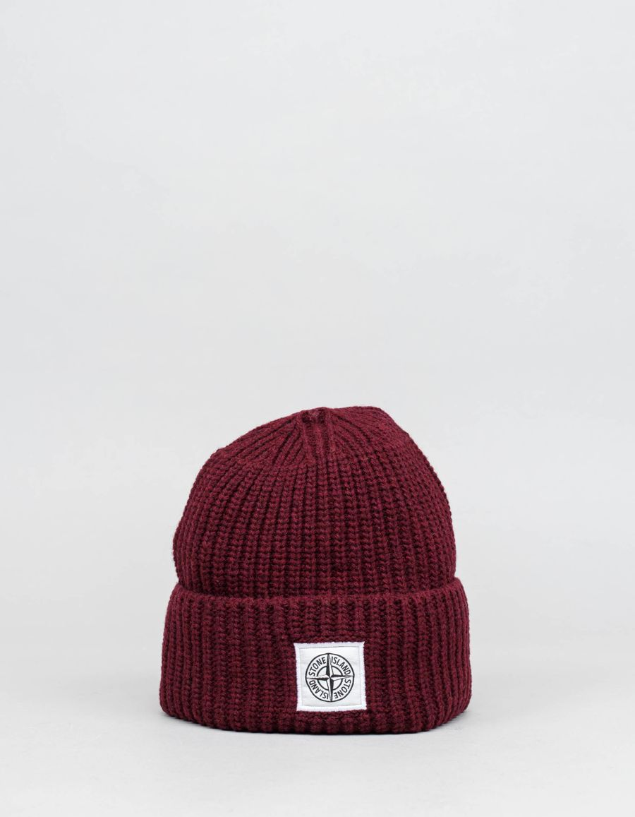 Stone Island Knitted Lambswool Beanie