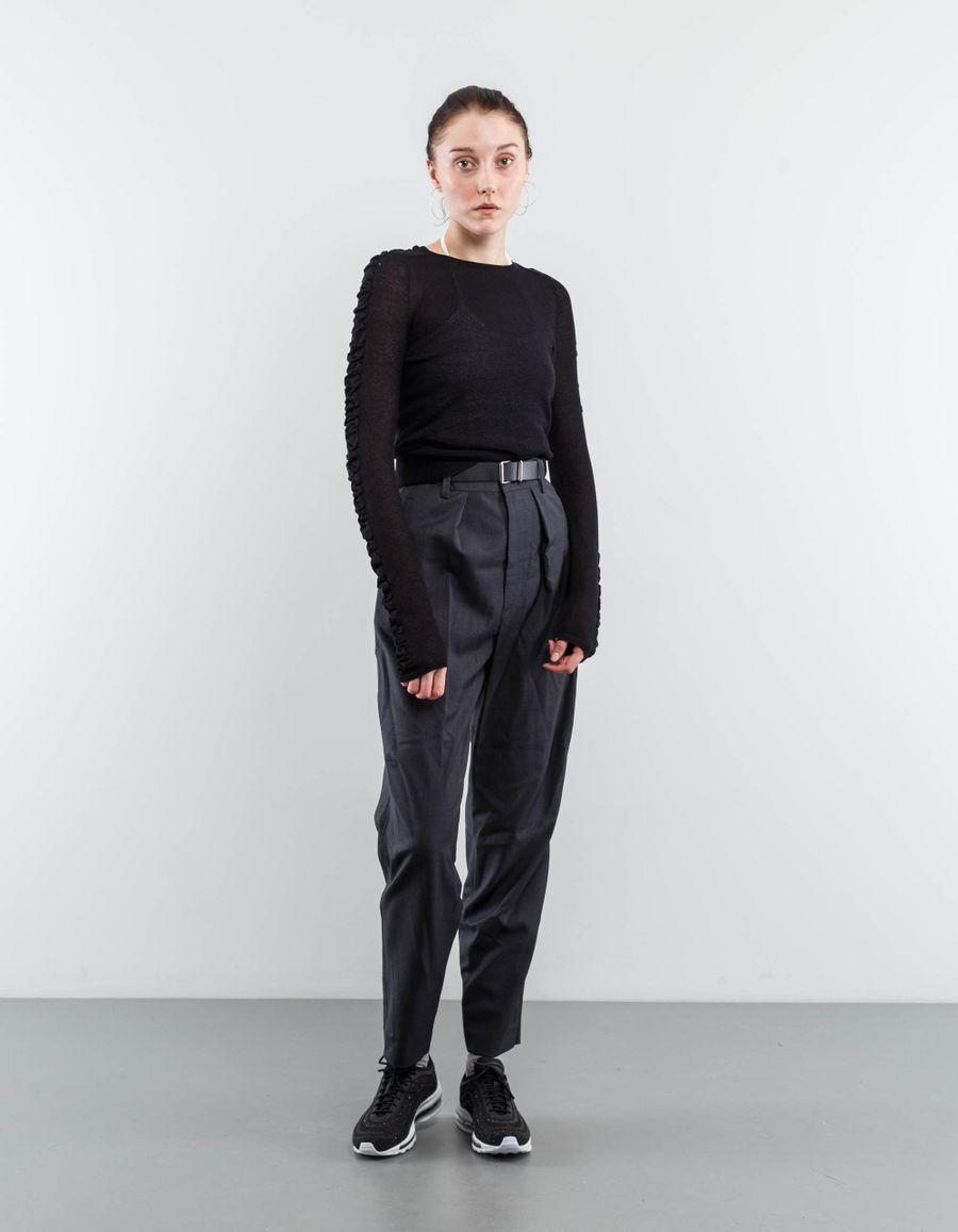 Helmut Lang Shirring Crew Neck Sweater