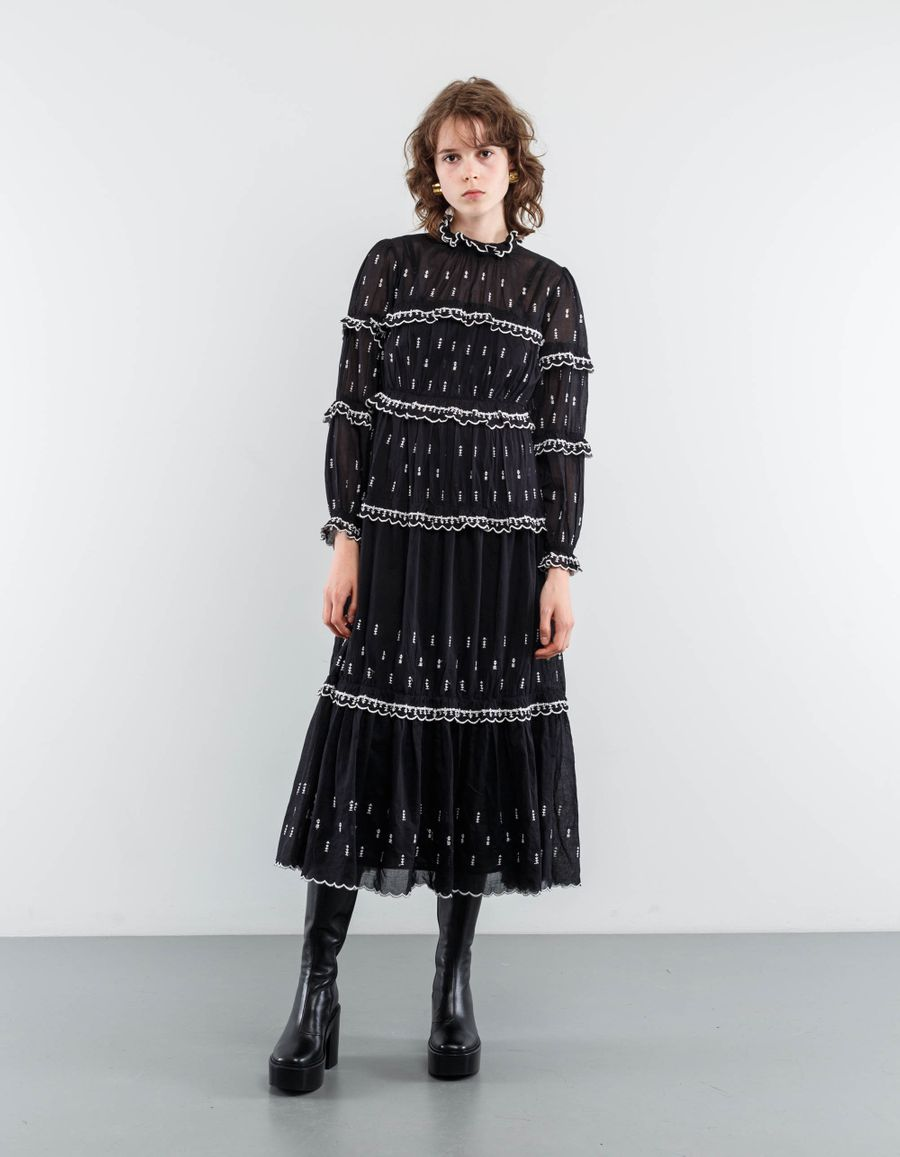 Isabel Marant Étoile Lyukio Frill Tiered Dress