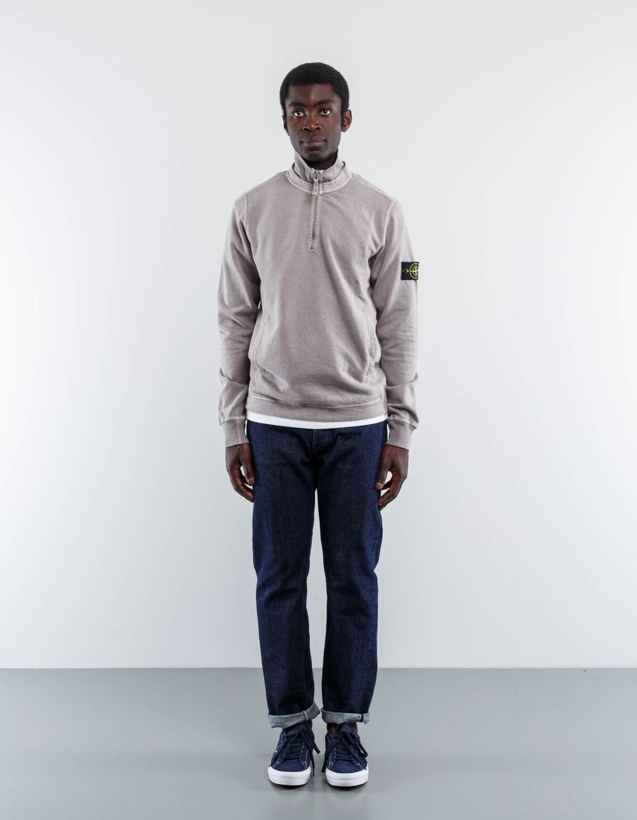 Stone Island Zip Neck Sweatshirt