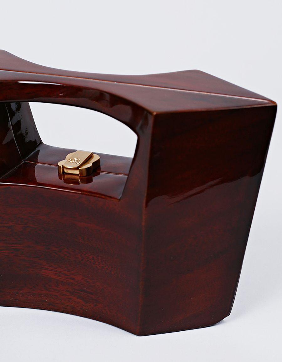 Rocio - Iman Wooden Handbag