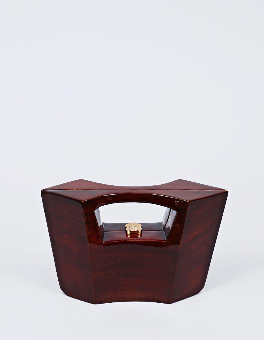 Rocio Iman Wooden Handbag