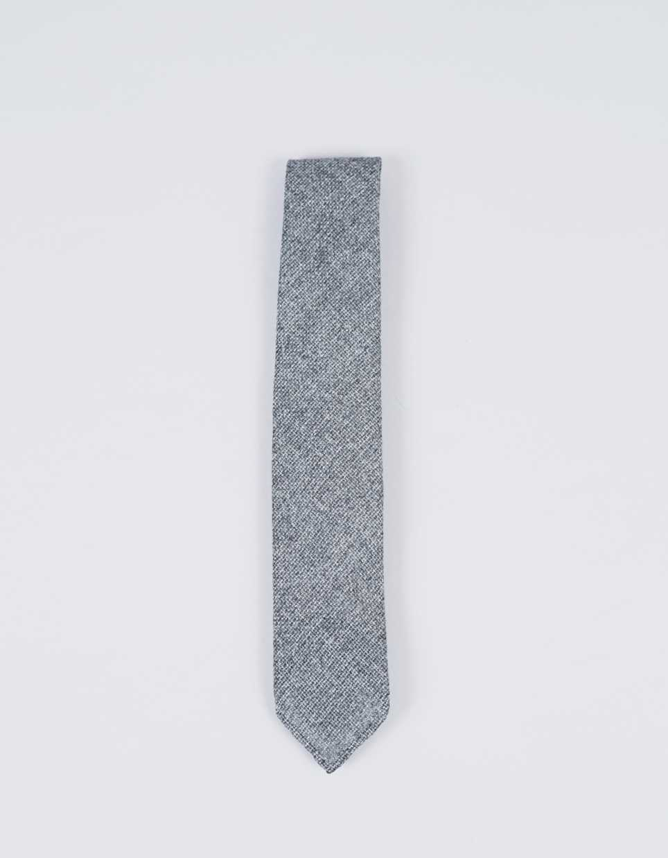 Drake's Hand Rolled Melange Wo/Si Tie Grey